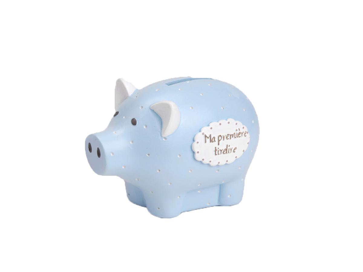 Mnsruu Serviette de Bain Souple en Forme de Cochon Bleu Ciel 76 x 38 cm