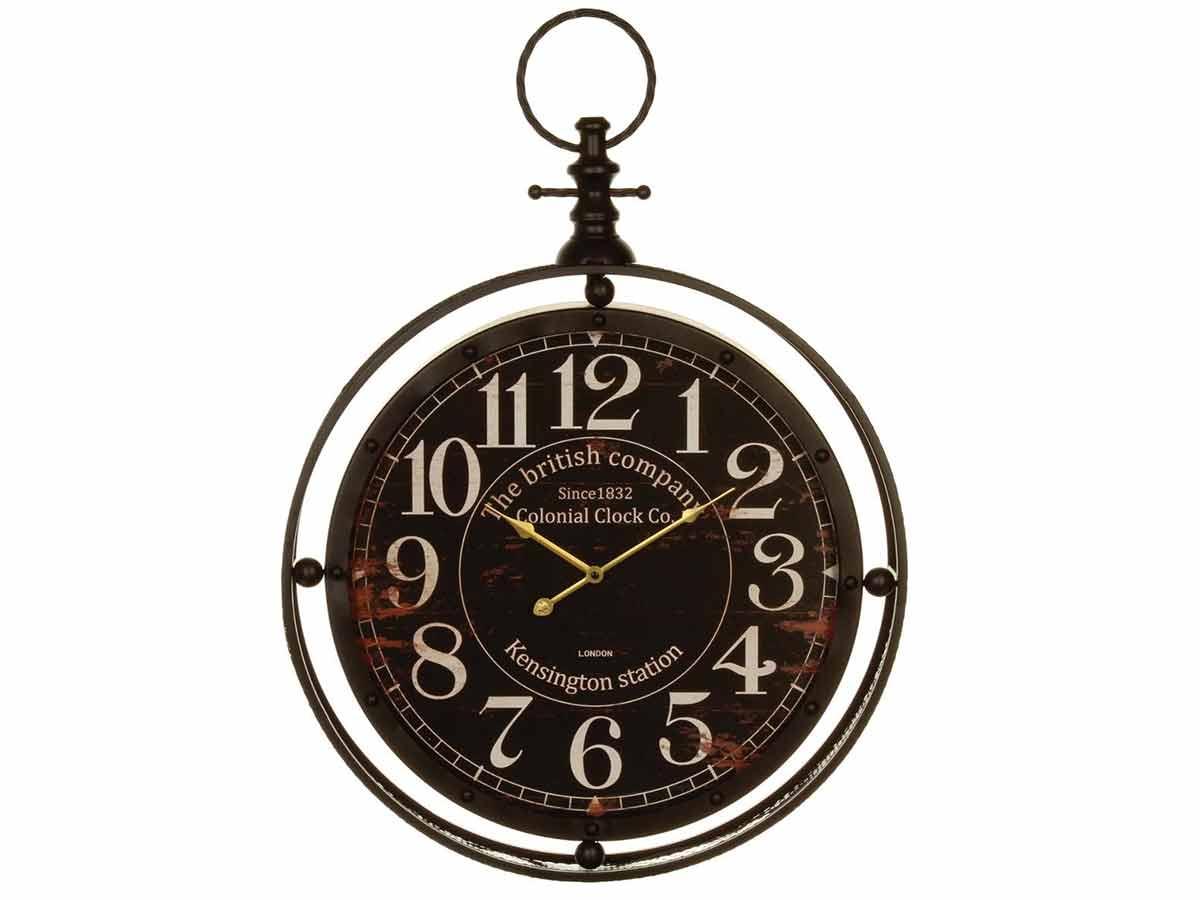Horloge en métal à gousset coloniale - Atmosphera