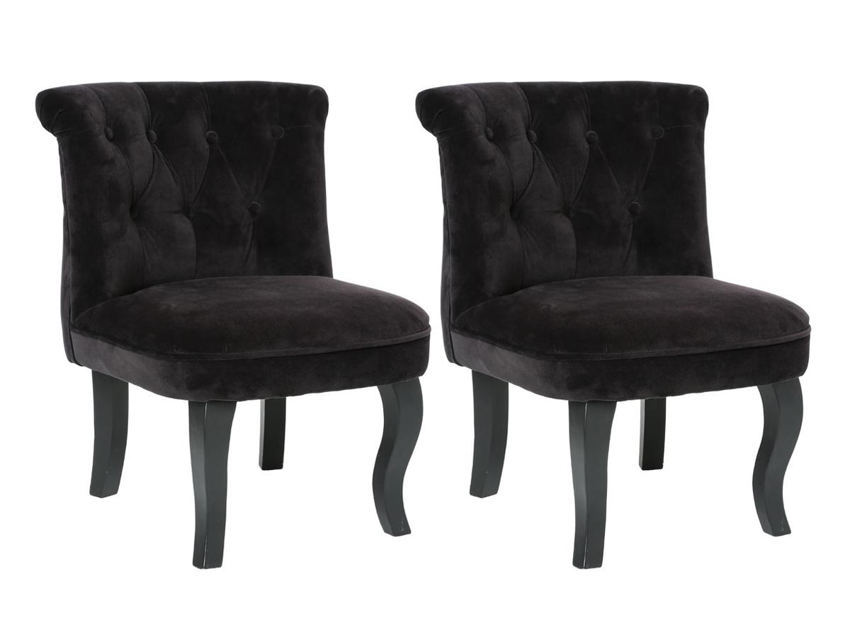 Lot de 2 fauteuils effet velours Calixte Charme