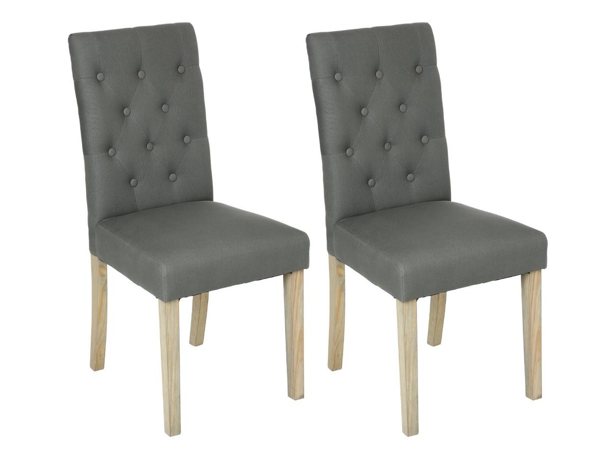 Lot de 2 chaises Canvas Cleva \\Esprit Campagne\\\