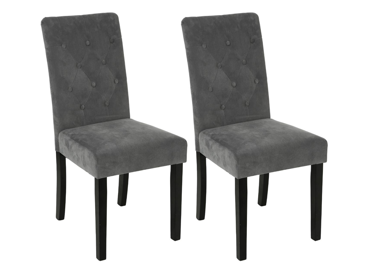 Lot de 2 chaises effet velours Cleva \\Esprit Campagne\\\