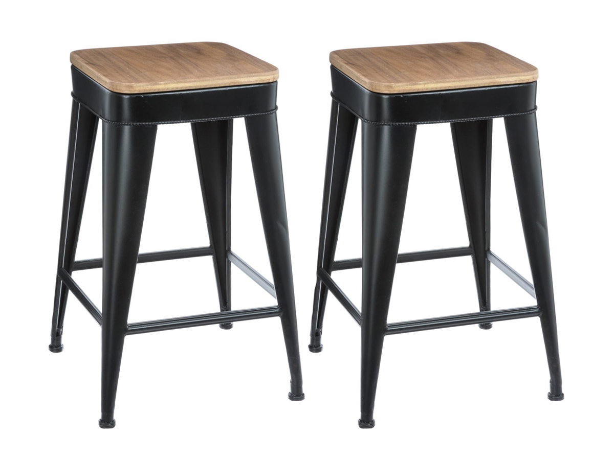 Lot de 2 tabourets de bar Joris Hispter Home