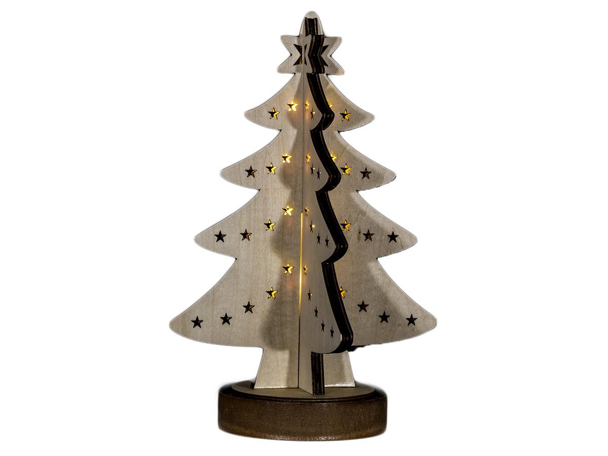 No/ël lumineux LED bois maison ornement No/ël cadeau table d/écoration d/écorations pour manteaux fen/êtres