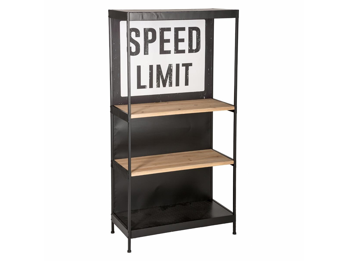 Deco Metal Noir Et Bois racks & holders yyqxr floating shelves iron double-decker