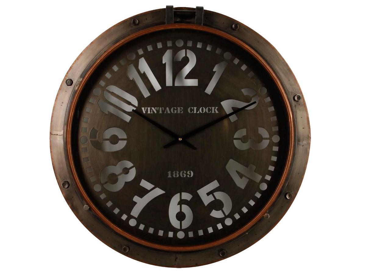 Horloge en métal hublot \\Broc Edition\\\