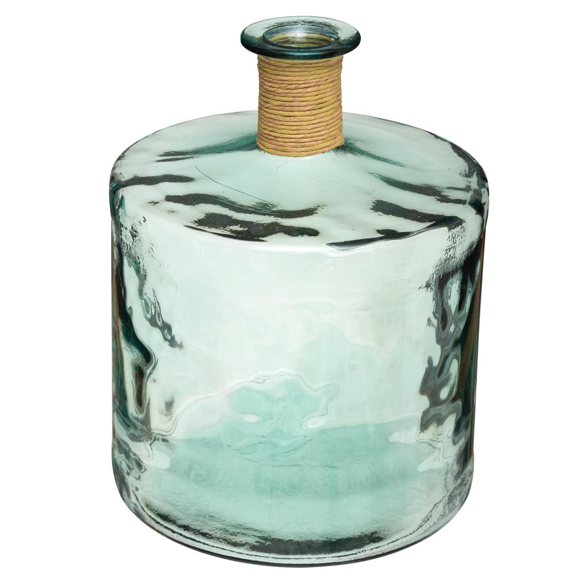 Vase Épaule en Verre Recyclé H 45 - Atmosphera