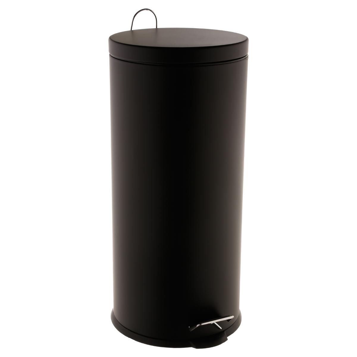 3L Noir PEGANE Lot de 2 poubelles 30L GM diam/ètre 24 x H19 cm diam/ètre 42 x H54.5 cm ; PM