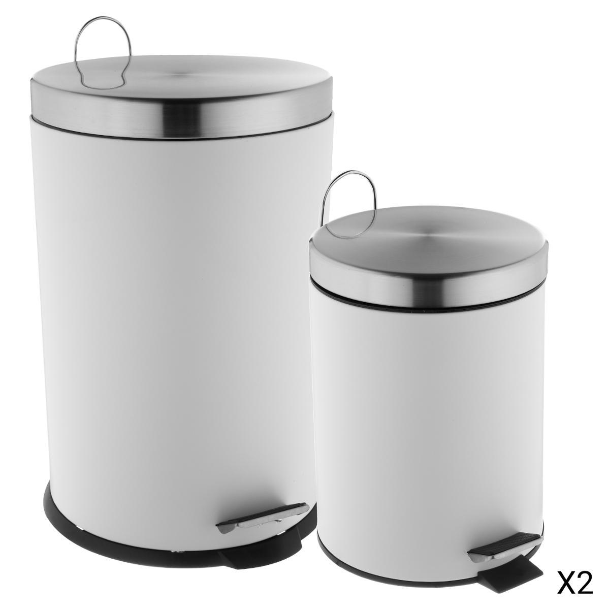 Couleur : Silver, Taille : 6L LIUFS-Poubelle Poubelle sans Couvercle en Acier Inoxydable M/énage Salon Chambre Cuisine Salle Bain Cr/éative Toilette Simple Tube