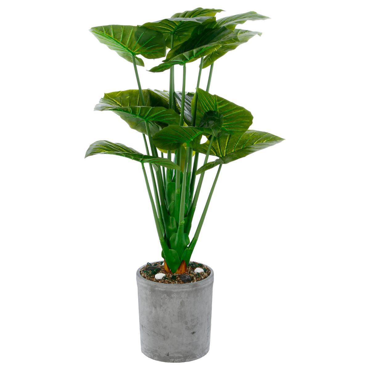 Plante artificielle pot ciment H120