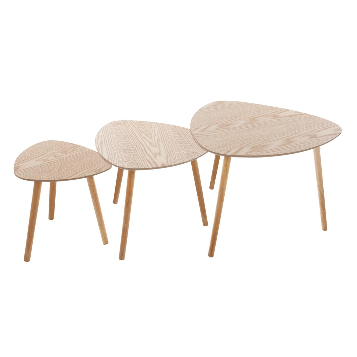 Lot de 3 tables à café Mileo - Atmosphera
