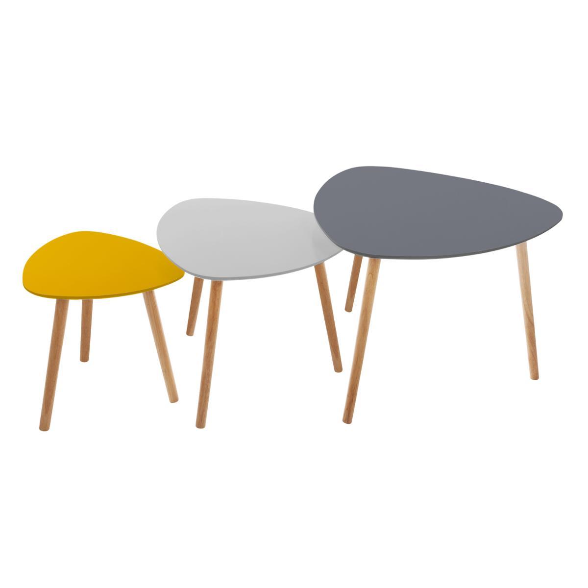 Lot de 3 tables à café Mileo - Atmosphera