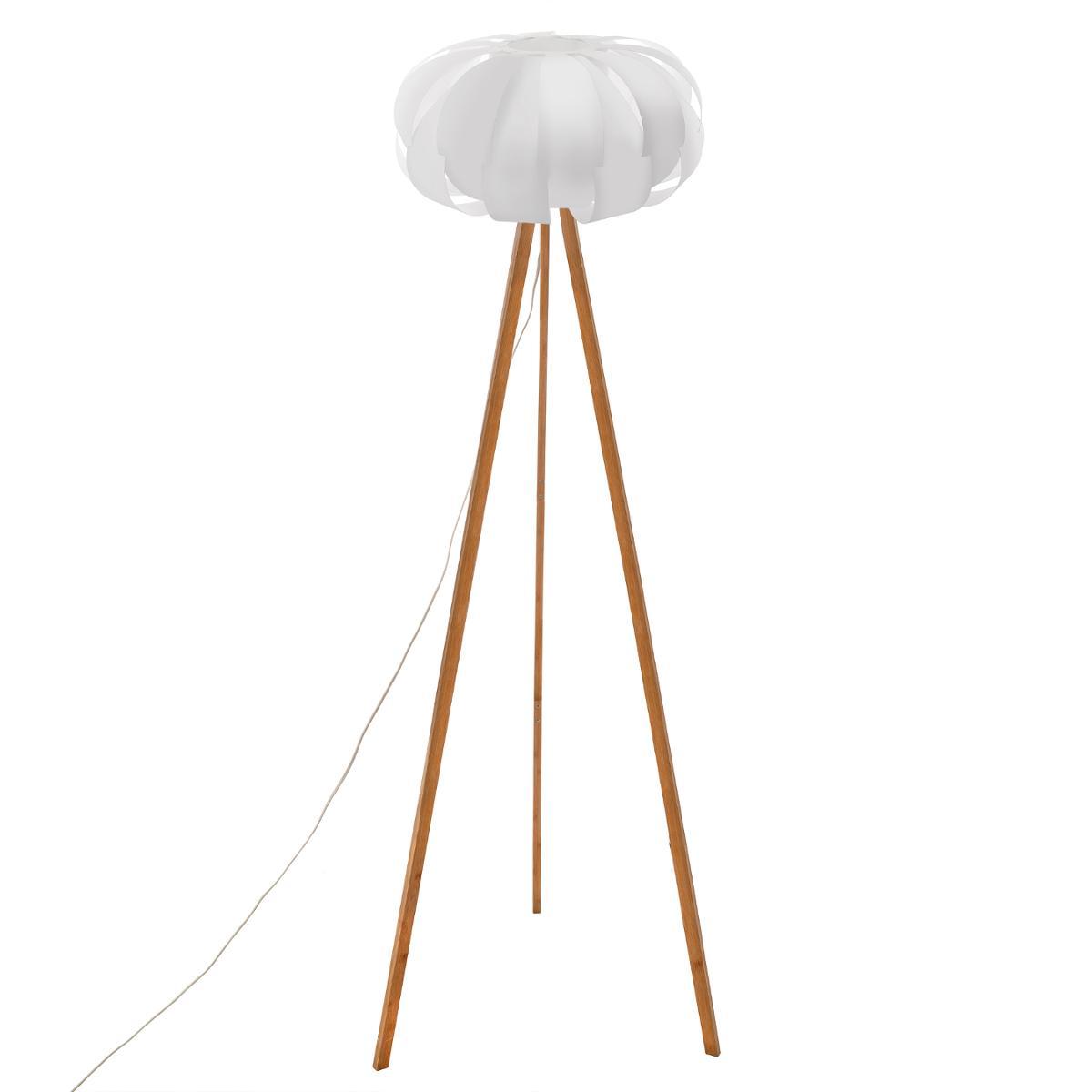 Lampadaire bambou papier H150
