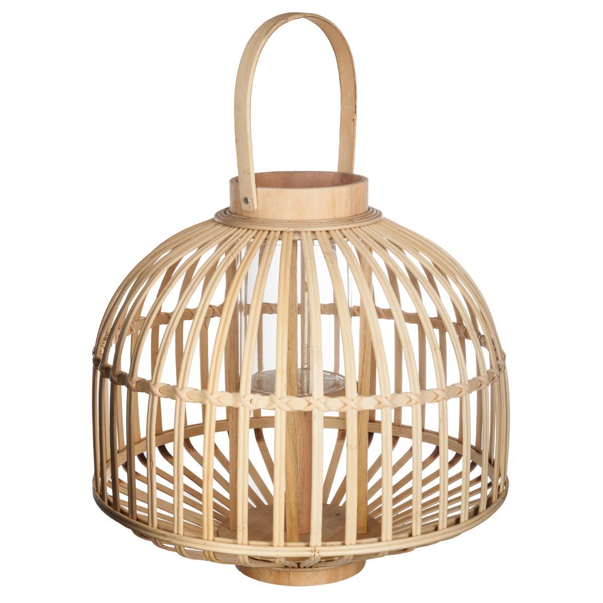 Lanterne rotin jupon D37XH35