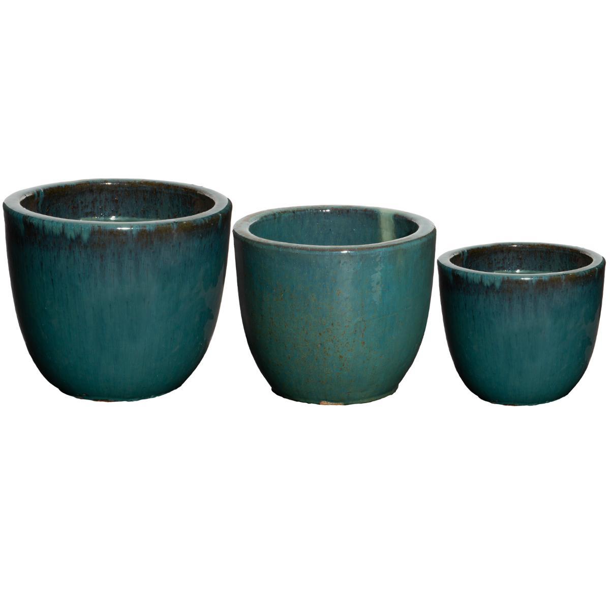 Lot de 3 pots en céramique H33 - Atmosphera