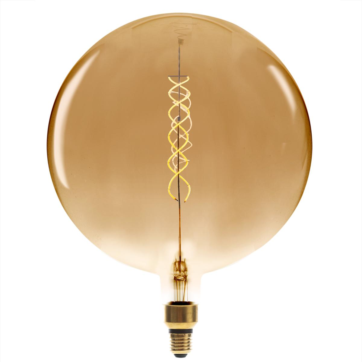 Ampoule LED Torsad Ambrée G300 6W