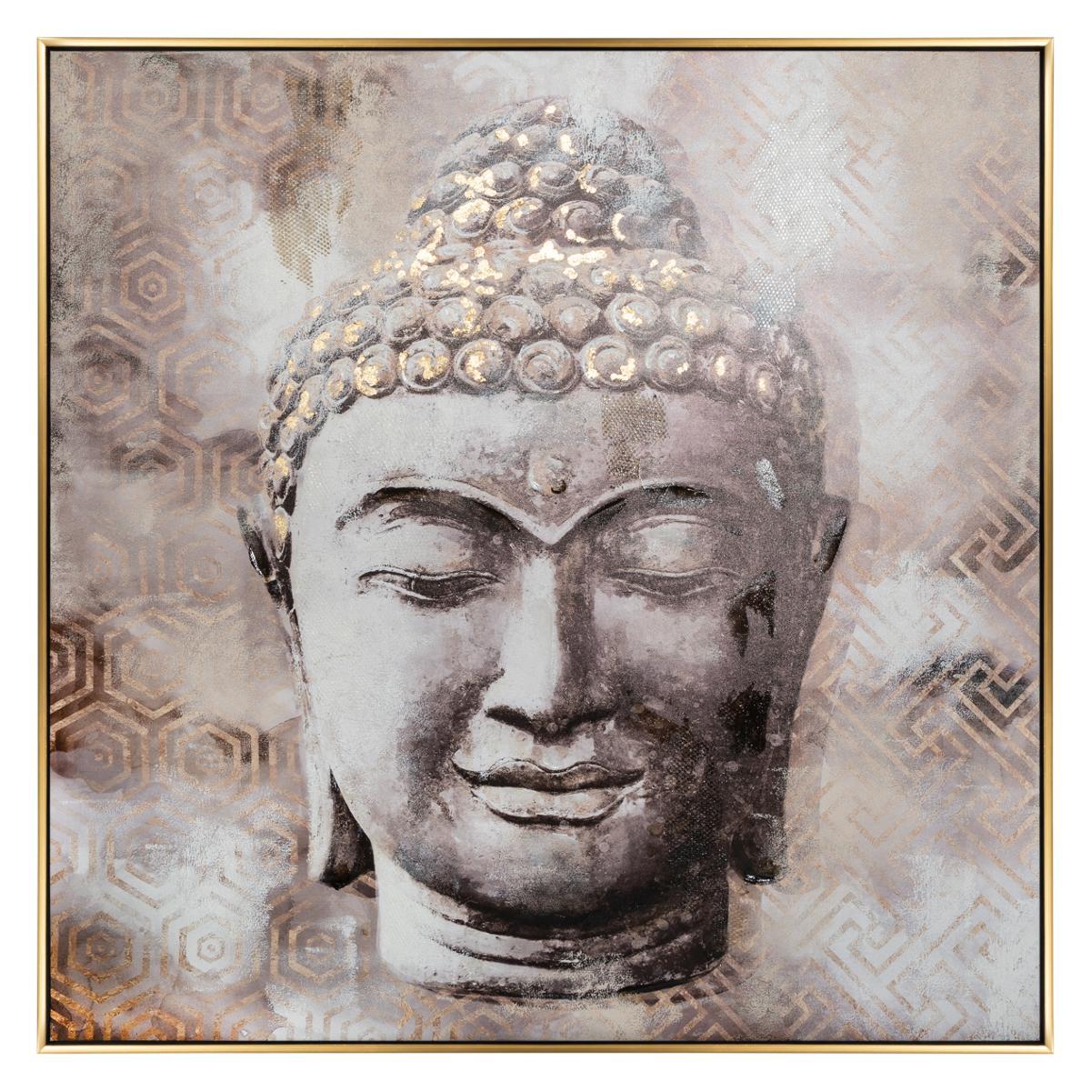 Toile Imprimée / Cadre / Feuillage Bouddha