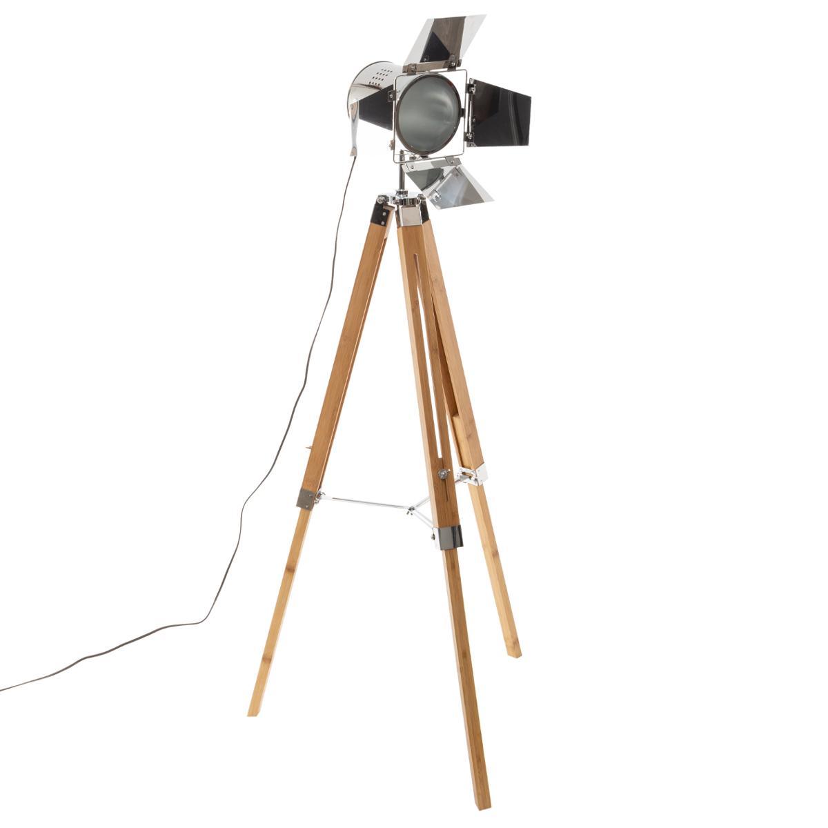 Lampadaire Projecteur Bambou