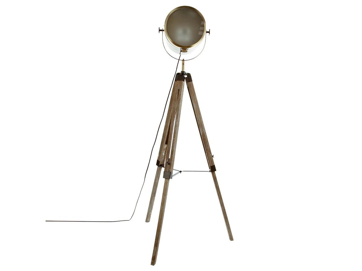 Lampadaire en métal et bois Ebor - Atmosphera