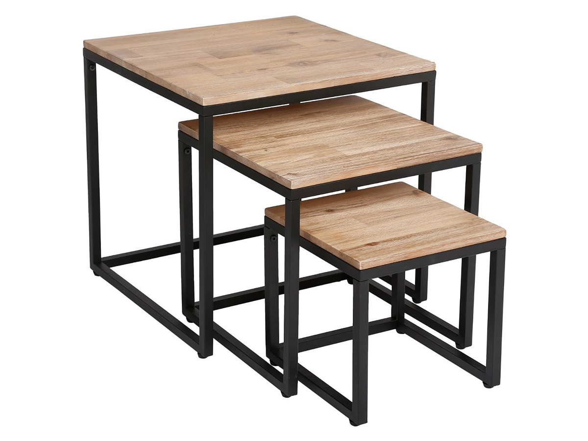 Lot de 3 tables basses Edena