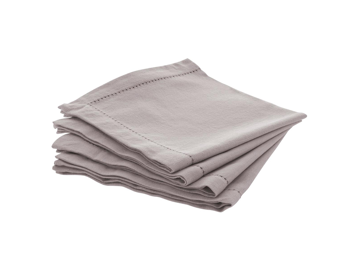 Lot de 4 serviettes de table Chambray - Atmosphera