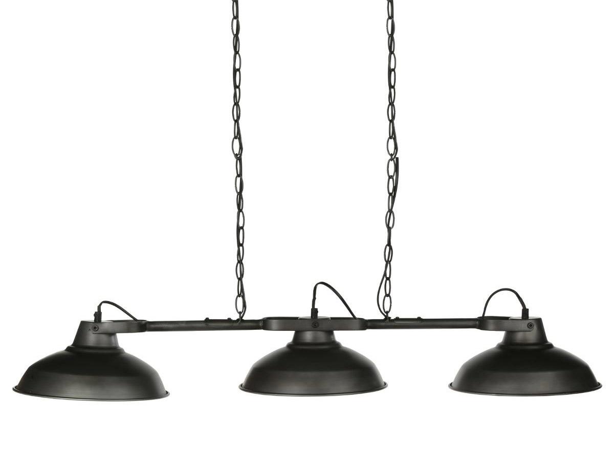 Lustre en métal 3 abats-jour Sorn Esprit Campagne