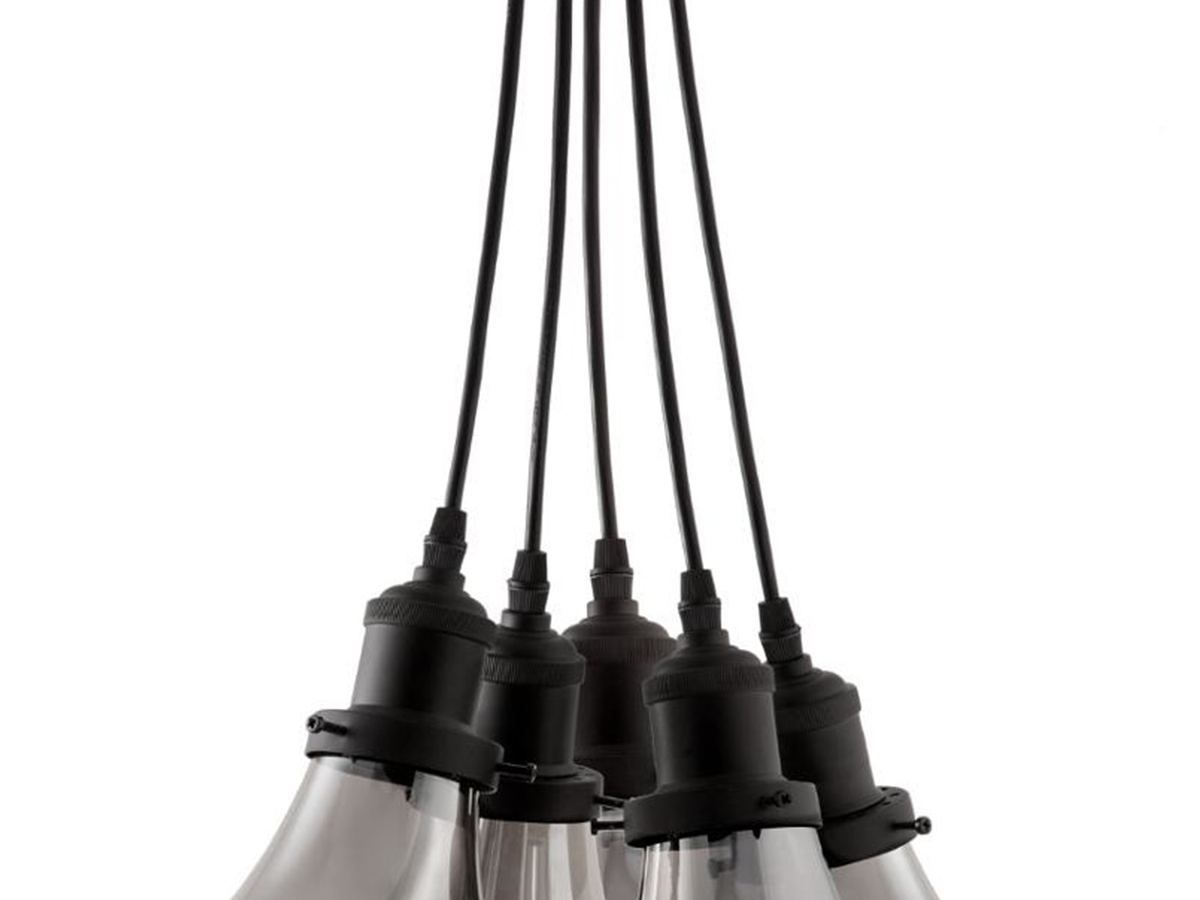 Suspension 5 ampoules en verre fumé - Atmosphera
