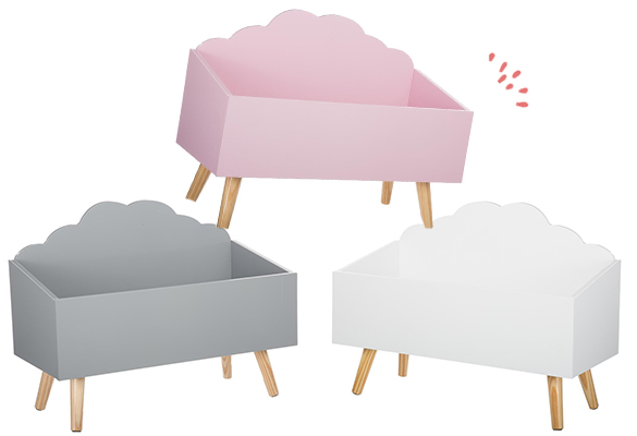 coffre jouets coffre jouets nuage atmosphera. Black Bedroom Furniture Sets. Home Design Ideas
