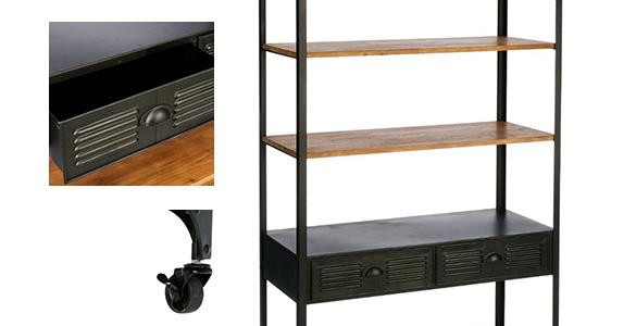 biblioth que biblioth que m tal torof esprit r cup tag res atmosphera atmosphera. Black Bedroom Furniture Sets. Home Design Ideas