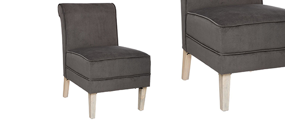 fauteuil lot de 2 fauteuils en velours alph e atmosphera. Black Bedroom Furniture Sets. Home Design Ideas