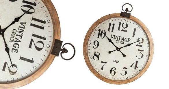 horloge horloge en bois gousset atmosphera. Black Bedroom Furniture Sets. Home Design Ideas