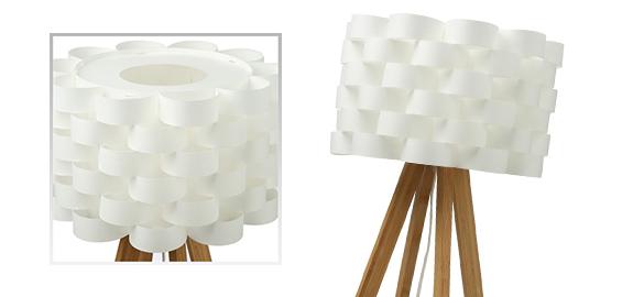 lampe poser lampe poser en bambou et papier moki atmosphera. Black Bedroom Furniture Sets. Home Design Ideas