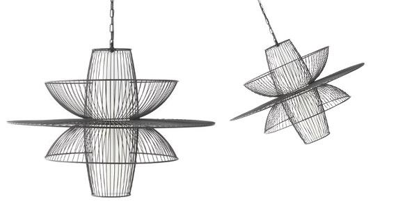 lustre suspension suspension en m tal filaire sym trique atmosphera. Black Bedroom Furniture Sets. Home Design Ideas