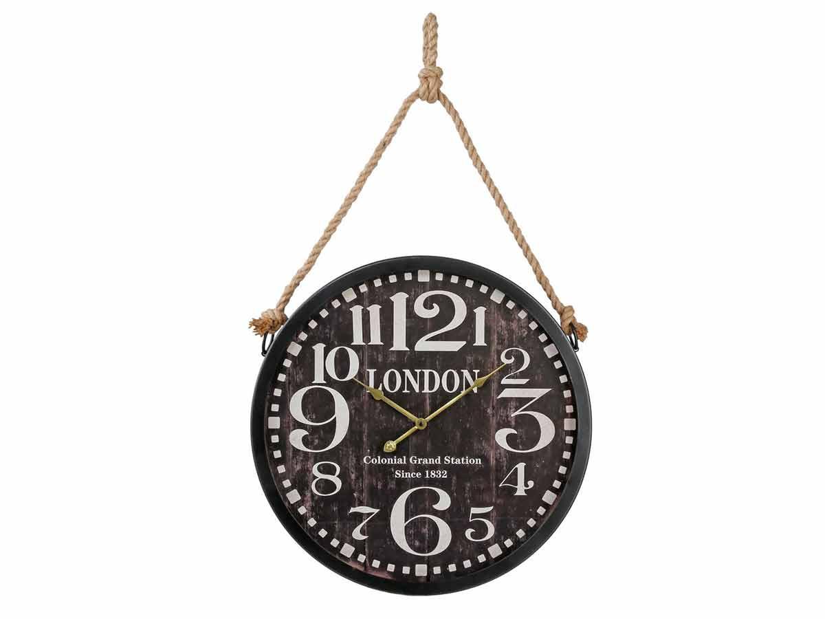 Horloge en métal avec corde - Atmosphera