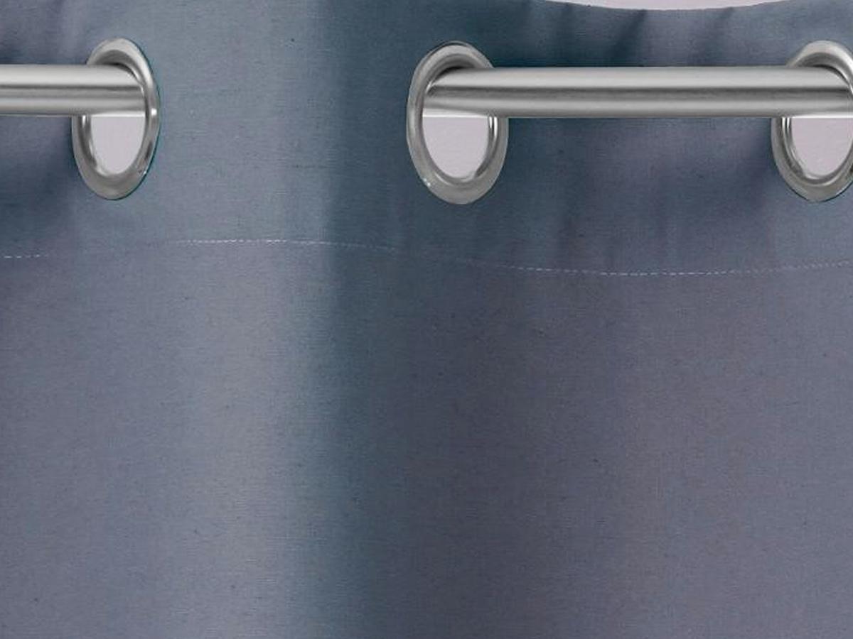 Rideau 140 x 260 cm effet coton - gris foncé - Atmosphera