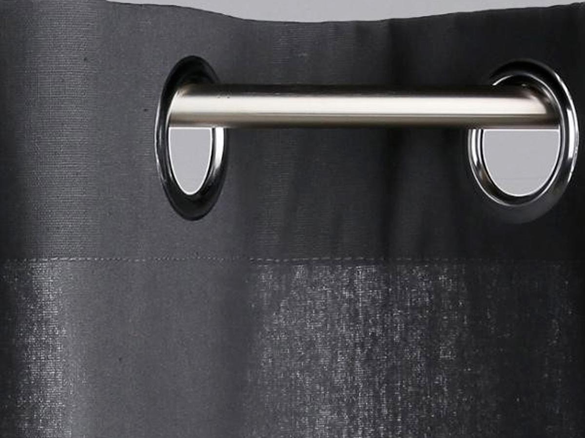 Rideau 140 x 260 cm Panama - gris foncé - Atmosphera
