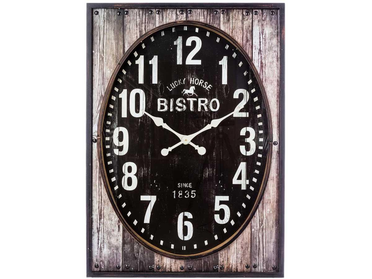 Horloge ovale et contour bois \\Esprit récup\\\