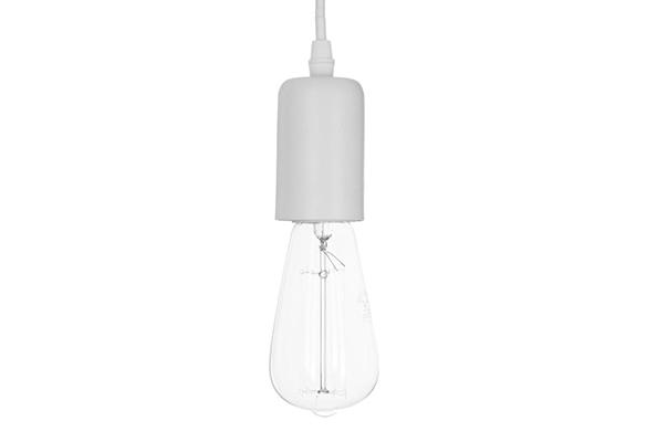 Suspension ampoule en métal mat - Blanc - Atmosphera