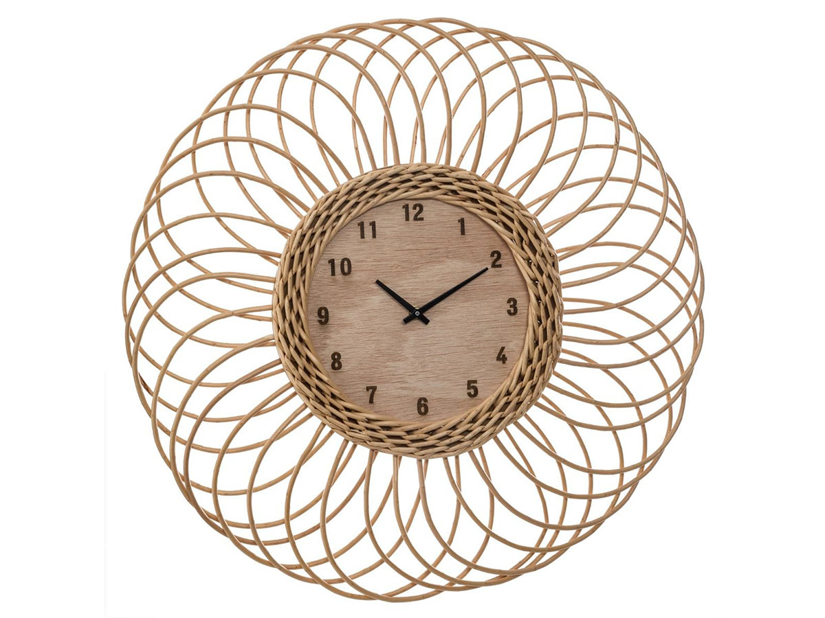 Horloge en Rotin - Atmosphera