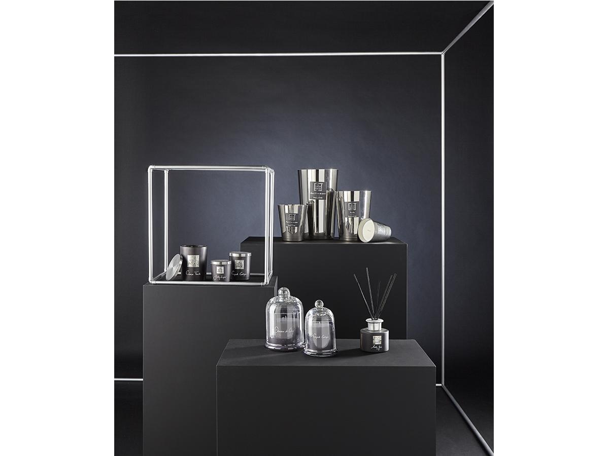 Bougie parfumée pot métallisé Ø 10,5 cm - Jasmin et Patchouli - Atmosphera