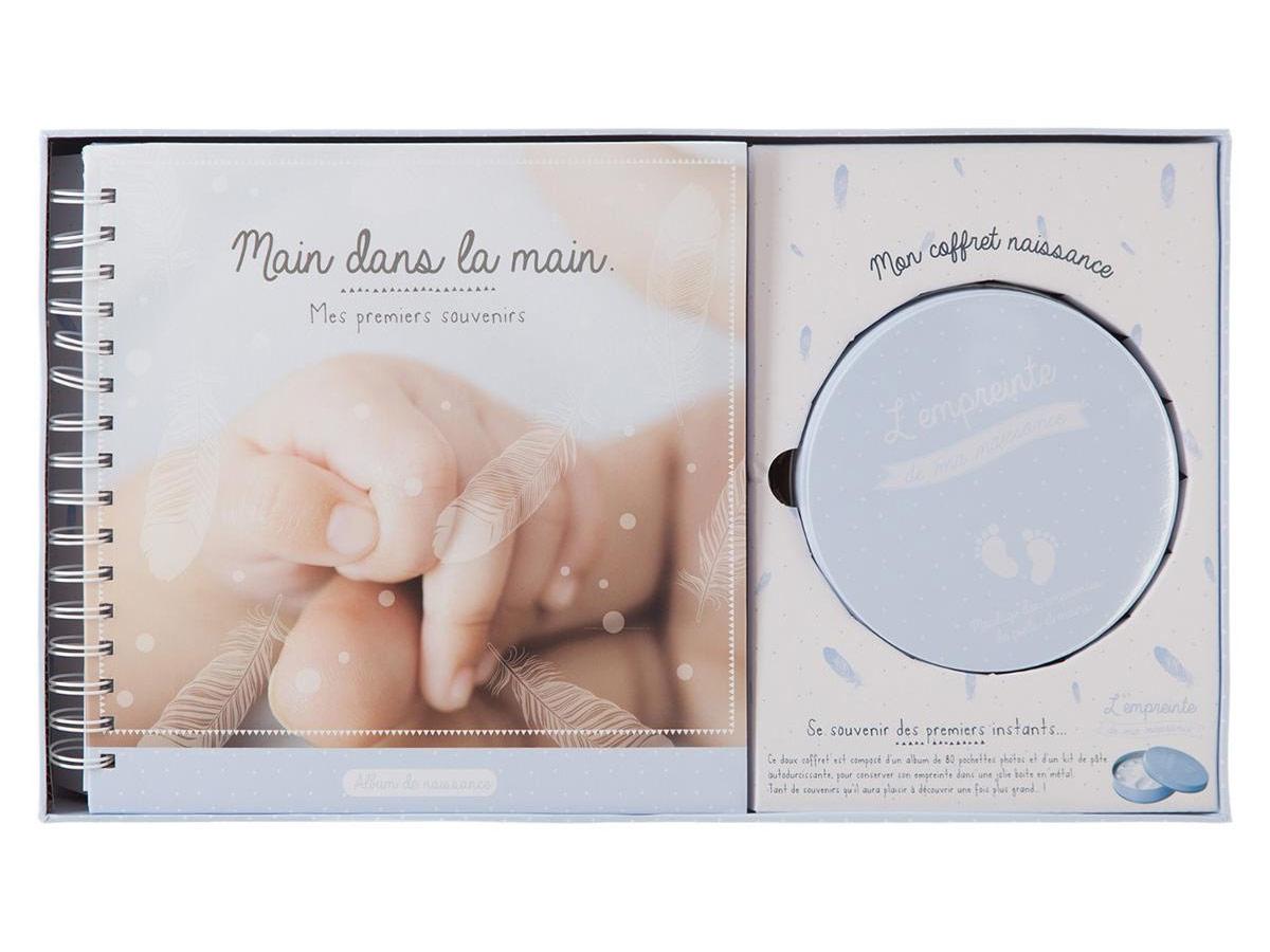 Coffret naissance album + empreinte - Atmosphera
