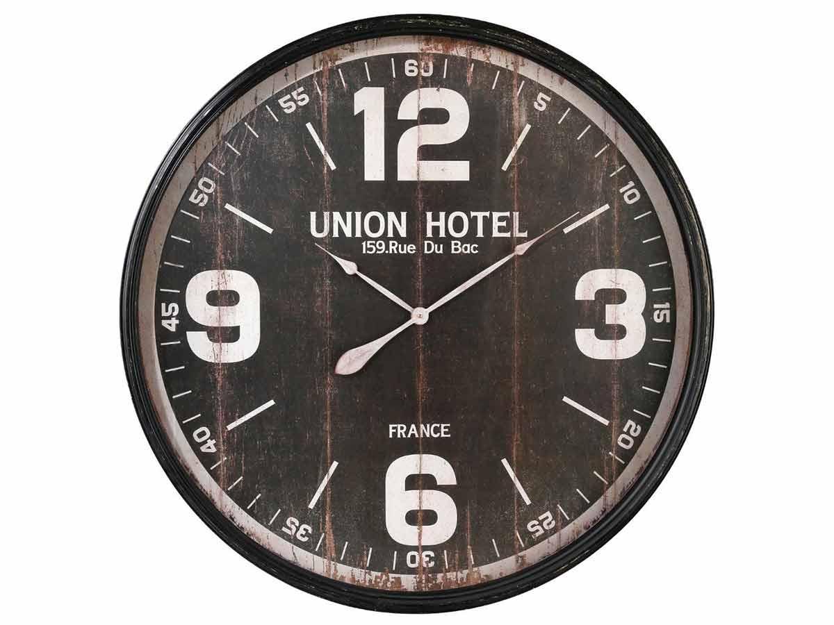 Horloge en métal et bois \\Esprit Récup\\\