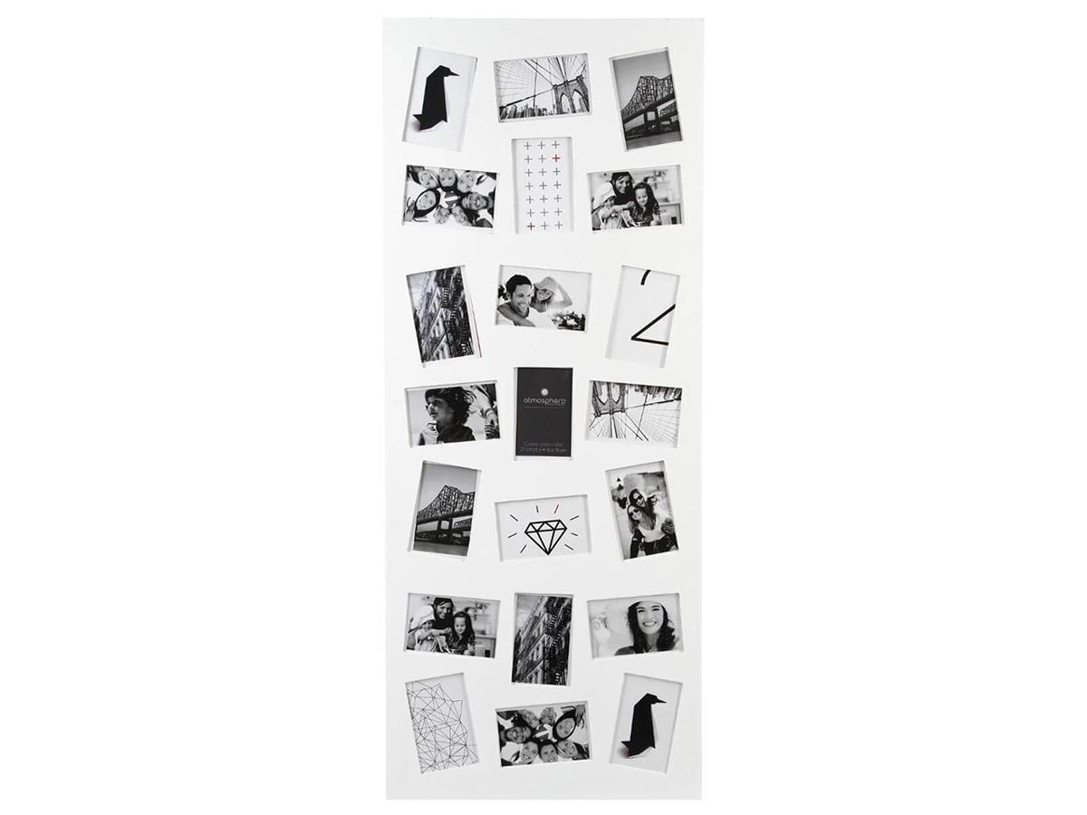 Cadre pêle-mêle 21 photos - Blanc - Atmosphera